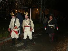 Večerní pochod vojsk z období napoleonských válek