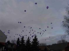 Vypouštění balónků s přáním Ježíškovi